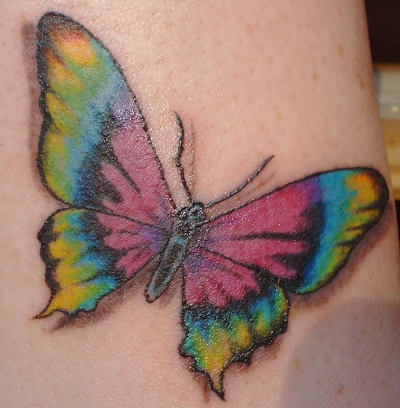 Pretty butterfly tattoo designfor women.