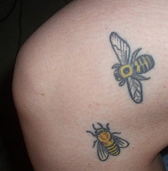Honey Bee Tattoos design