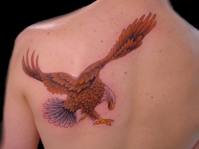 Perhaps the most important feature of the flying eagle tattoo is the fine