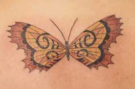 Beautiful butterfly tattoo for girls.